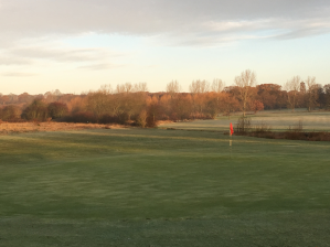 A view of the 18th hole at Chingford Golf Course