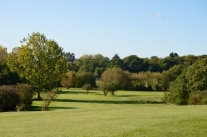 A view of the green at the 1st hole at Chingford Golf Course